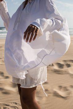 storm wears H&M studio collection in Port Elizabeth at van stadens beach