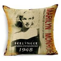 Marilyn Monroe Cotton Linen Pillow Case Movie Star Pattern Chair Seat Square 45x45cm Decorative Pillow Cover Home Living