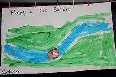Story of baby Moses floating in a basket down the river -