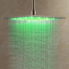 Ouku Stainless Steel Rainfall Shower Head With LED Lighting