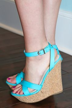 Turquoise Wedges on Pinterest   Teal Wedges, Summer Wedges and ...