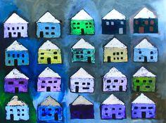 "Saatchi Art Artist Elaine Kehew; Painting, ""Quiet Houses"" #art"