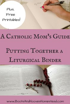 Together a Liturgical Binder (plus printables) A Catholic Moms guide to putting together a liturgical binder. Plus, free printables!A Catholic Moms guide to putting together a liturgical binder. Plus, free printables! Catholic Icing, Catholic Bible, Catholic Mass, Catholic Quotes, Catholic Prayers, Catholic Readings, Catholic Catechism, Becoming Catholic, Religious Education