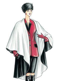 Creating DIY Fashion Trends – Designer Fashion Tips Marfy Patterns, Vogue Sewing Patterns, Mccalls Sewing Patterns, Diy Fashion No Sew, Fashion Sewing, Italian Pattern, Vintage Vogue, Cloak, Fashion Trends