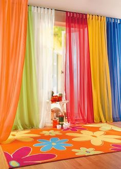 Curtain Is Perfect Foil For The Lighter Flowery Ash Gray Curtains .