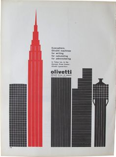 Do something similar but w our water tower Advertisement for Olivetti / 1964