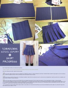 School girl skirt Tuto