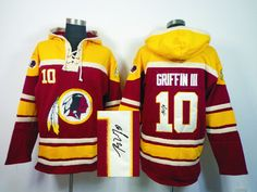 Old Time NFL Jersey Team Hoodie NFL Washington Redskins GRIFFIN III Jersey  10  Signature Hoodies 58ba83596