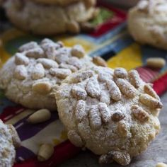 These gluten-free Italian pignoli cookies, adapted from Lidia Bastianich, are a great holiday cookie full of almonds and pine nuts! A great addition to a Christmas cookie tray. Lidia's Recipes, Pine Nut Recipes, Easter Recipes, Dessert Recipes, Birthday Recipes, Chicken Recipes, Italian Cookie Recipes, Italian Cookies, Italian Desserts