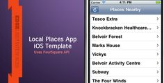 Local Places iPhone App . This example is for a Local places iOS template built on Appcelerator's Titanium. This boilerplate template has standard styling except for the icons. From here you can apply your own graphics and