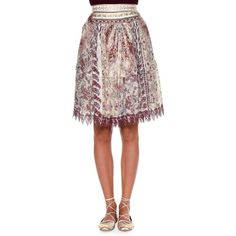 Etro Embellished-Waist Ruched Skirt ($1,308) ❤ liked on Polyvore featuring skirts, etro, a-line skirt, ruched skirt, scallop hem skirt and knee length a line skirt