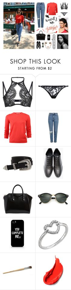 """""""Kendall Jenner - Get The Look!!"""" by marty-97 ❤ liked on Polyvore featuring Agent Provocateur, Jil Sander, Topshop, ASOS, Alexander Wang, Givenchy, Ray-Ban, Samsung and xO Design"""