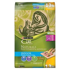 Purina Cat Chow Naturals indoor plus vitamins & minerals provides wholesome natural nutrition suited to the unique needs of your cat's indoor lifestyle. Made with real chicken and turkey and without...