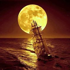 Sailing by the moon