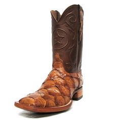 Mens boots on pinterest caiman square toe boots and for Pirarucu fish boots
