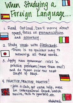 Things to keep in mind when learning a foreign language
