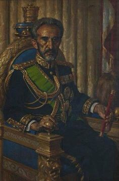 Emperor Haile Selassie I, King of Kings of Ethiopia Rastafari Art, History Of Ethiopia, Haile Selassie Quotes, Afro, Lion Photography, Black Planet, Black Royalty, African Royalty, Warrior King