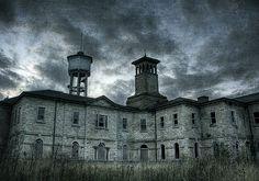 19th-century Italianate insane asylum in Nova Scotia, Canada. Saint Johns.