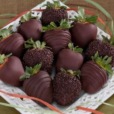 Chocolate chips strawberries