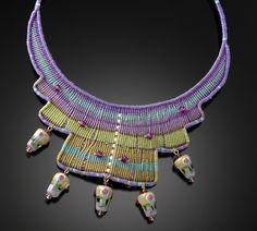 Violet Kiwi by Bernadette Mahfood (Beaded Necklace) | Artful Home