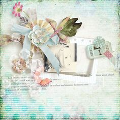 September is a hard month isn't it ? We say goodbye to holidays and we have to go back to school or go back to work ... That's why I decided using soft colors for this kit. You will be able to scrap all school memories, from kindergarten to university !  #thestudio #digitalscrapbooking #dailydeal #scrapbooking