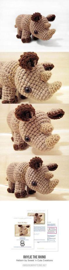 Little Rhylie The Rhino Amigurumi Pattern