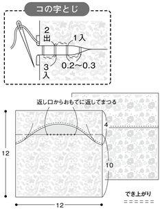 女の子のための かわいい花柄エチケットポーチの作り方(布小物) | ぬくもり