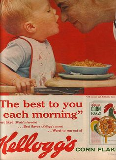 #kelloggs #cereal #breakfast #vintage Vintage Food, Vintage Recipes, Vintage Ads, Ice Cream Candy, Corn Flakes, Retro Ads, Old Ads, Magazine Ads, You Are Awesome