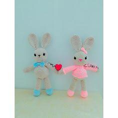 fatma_snr_clk:: Aras ve Zümra bebek oyun ve uyku arkadaşlarınız geliyor hazırolun  #love#aşk#nature#like#uykuarkadasi#oyunarkadaşı#baby#babyshower#babyboy#instagram#kız#erkek#rabbit#amigurumi#weamigurumi#crochet#crocheting#knit#knitting#nako#