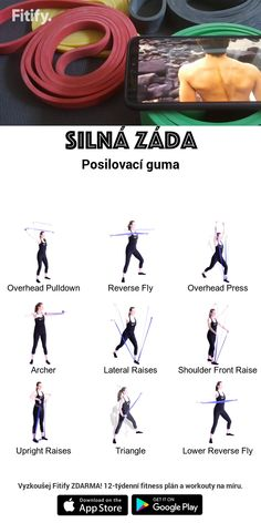Back Workout with a Resistance Band Intense workout to target your upper and lower back muscles. Resitance Band Workout, Leg Workout With Bands, Hiit Workout Videos, At Home Workouts, Workout Exercises, Exercise Band Workouts, Couch Workout, Men Exercise, Workout Men