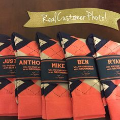 Wedding Gift Ideas Will You Be My Groomsman Gift Ideas // Asking Groomsmen Wedding Socks // Will… 10000 - Hello! I individually design Asking Groomsmen, Groomsmen Proposal, Bridesmaids And Groomsmen, Bridesmaid Gifts, How To Ask Groomsmen, Bridesmaid Boxes, Be My Groomsman, Groomsman Gifts, Gifts For Groomsmen
