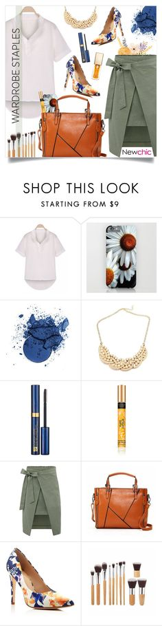 """""""Wardrobe stable _ new chic"""" by by-jwp ❤ liked on Polyvore featuring Estée Lauder, Vince Camuto, Clarins, contest, contestentry, WardrobeStaples and newchic"""