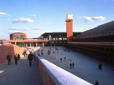 Rafael Moneo 1996 Laureate, Atocha Station, Madrid, Spain, 1992 Famous Architects, School Architecture, Postmodernism, Plan Design, Public Transport, Abandoned Places, Fair Grounds, Building, Photography