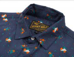 Dolores Navy Short Sleeve Shirt   Benny Gold