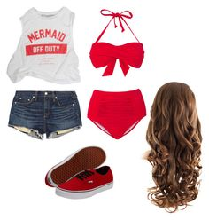 """Beachin"" by ke-hardwick ❤ liked on Polyvore"
