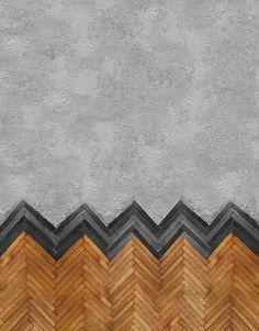 wood, tiles & concrete