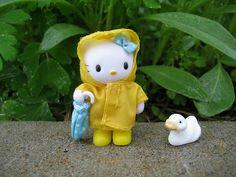 hello kitty in a raincoat by merwing✿little dear, via Flickr