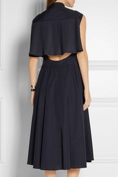 TOME | Cape-effect cotton-poplin midi dress | NET-A-PORTER.COM