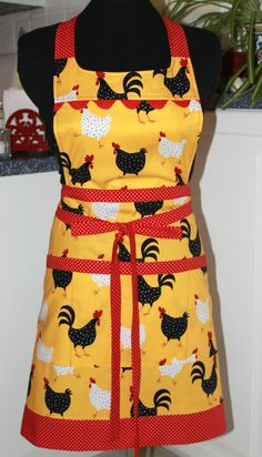 Chickens and Roosters Metro Market Full Apron by sewmuch2luv, $54.00