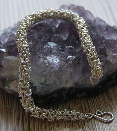 Versilberte Armbänder - Turkish Round Silber Amband Chainmaille - ein…