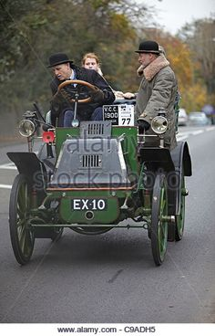 1900 Daimler in the 2011 London Brighton Veteran car run - Stock Image