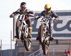 Steve Eklund #11 & Tom Berry #58 over the TT jump at Ascot