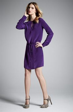 Suzi Chin for Maggy Boutique Pintuck Silk Shirtdress #Nordstrom #NSale