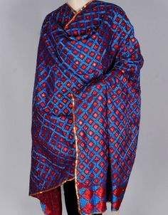Phulkari Embroidered Cotton Bagh Dupatta