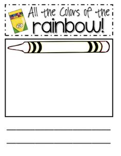 Color Writing Idea - Pick a color and write the word inside the crayon.  Then write a sentence and illustrate something that color.