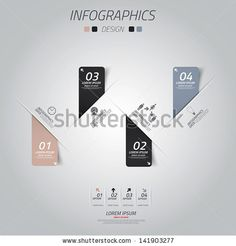 Minimal Infographics Design. Vector Can Be Used For Workflow Layout, Diagram, Number Options, Web Design. - 141903277 : Shutterstock
