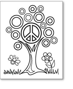 pea sign coloring pages - photo#41