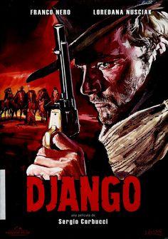 """Una joven mujer, María, azotada por un grupo de hombres, es salvada por un mercenario, Django, que  descubre  en la zona dos bandas rivales enfrentadas por  dar un golpe que les reportará mucho oro. Django trata de arrebatarles todo el oro pero tras ser capturado, es torturado y le destrozan las manos. Uno de los más emblemáticos western realizados en Europa, al que Quentin Tarantino rindió homenaje en """"Django desencadenado"""