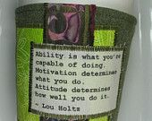 Coffee Cozy with Ability Motivation and Attitude Quote