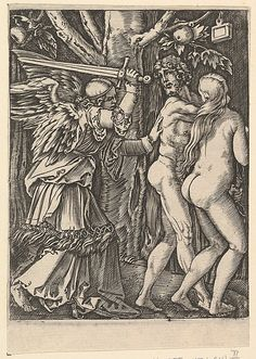 Marcantonio Raimondi; The Expulsion from the Paradise (Italian engraving, 2nd state, after Durer, c. 1500-34); Metropolitan Museum of Art, New York